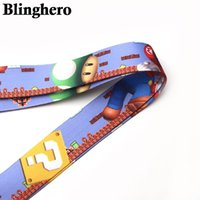 Wholesale cellphone games for sale - Group buy Ca705 Mario Game Keychain Neck Straps Lanyards For Key Id Card Pass Gym Cellphone Usb Badge Holder Diy Hanging Rope sqcSVY