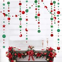 Wholesale baby girl bunting resale online - 4m Glitter Twinkle Star Round Shape Banner Bunting Paper Garland Hanging Banners For Baby Boy Girls Birthday Party Flags Banner yxlIFc