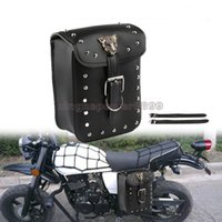 Wholesale motorcycle side saddle bags for sale - Group buy Motorcycle Side Tool Bag Saddle Bag Luggage For Harley Sportster Touring