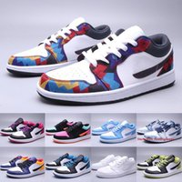 Wholesale cyber shoes resale online - Top Jumpman s Low Mens Womens Basketball Shoes Nothing But Net Washed Denim Black Cyber Outdoor Skateboard Sneakers Size