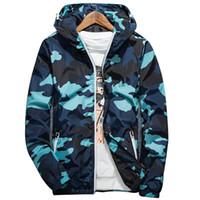 Wholesale springs resale online - 2020 Spring Autumn New Men s Zipper Jacket Men Long Sleeve Jacket Male Casual Camouflage Streetwear Mens Coat Men Clothing