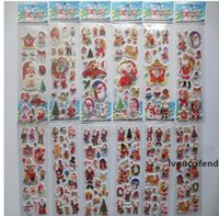 Wholesale stickers classic toys resale online - Eco Friendly Stars Santa Claus D PVC Puffy Anime Cartoon Stickers Kids Toys Cartoon Craft Classic Toys Children s toys Christmas