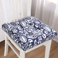coussinets de fesses achat en gros de-Flower Pattern Tatami Floor Cushion Office Square Chair Pad Pillow Dinner Soft Seat Pad Outdoor Buttocks Cushion Pads Home Decor Y200723