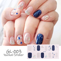 20PCS Lot Glitter Series Powder Sequins Fashion Nail Art Stickers Collection Manicure DIY Nail Polish Strips Wraps for Party Decor