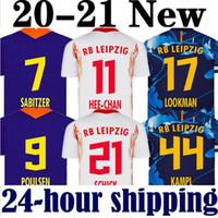 Wholesale kits homes for sale - Group buy 20 new Soccer Jerseys home away third WERNER Camiseta FORSBERG Maillot HALSTENBERG SABITZER Football Shirts Kits CUNHA Uniforms