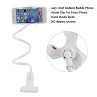 Wholesale universal gooseneck phone holder online – Universal Lazy Holder Arm Flexible Mobile Phone Stand Stents Holder Bed Desk Table Clip Gooseneck Bracket For Phone Muti Colors wmtaZu