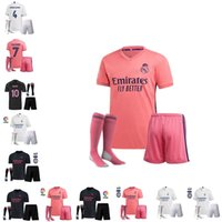 Wholesale real madrid home socks for sale - Group buy 20 Real Madrid Soccer Jersey HAZARD home away adult kids socks soccer shirt ASENSIO ISCO MARCELO madrid kids kit Football uniforms