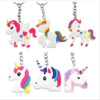 Wholesale horse birthday party decorations resale online - 100pcs Unicorn Keychain Horse Key Ring Holder Pendant For Unicorn Party Theme Decoration Kid Birthday Party Favor Supplie