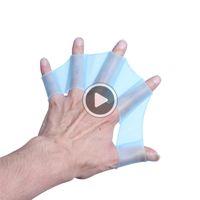 Wholesale training gloves for kids resale online - OIPT Sile Swimming Palm Swim Training Webbed Hand Palm Fin Gloves For Mens Womens Kids