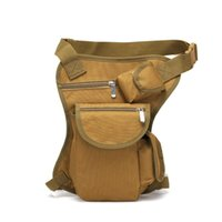 Wholesale motorcycle waist belt bag resale online - Belt bag Fashion Men Army Vintage Thigh Bag Utility Waist Pack Pouch Adjustable Hiking Male Waist Hip Motorcycle Leg