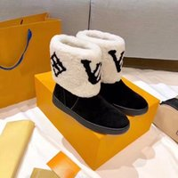 Wholesale first class resale online - First class wool boots New winter snow fashion Lamb Fur Real Fur integrated thermal boots real leather flat bottomed women s boots