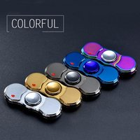 Wholesale electronic gyro resale online - Electronic Fingertip Gyro Usb Rechargeable Lighters Windproof Flameless Cigarettes Lighter Hand Spinner Gyro L