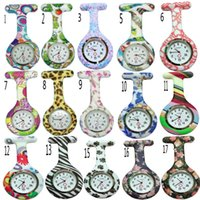 Wholesale nurse tags for sale - Group buy Mix colors New Nurse Watch Brooches Silicone Leopard Tunic Batteries Nurse Watch DHL