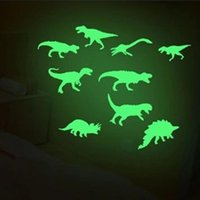 Wholesale glowing dinosaur toy resale online - 9Pcs Light Wall Sticker Home Decor Fluorescence Glow In The Dark Dinosaurs Toys Stickers Ceiling Decal Baby Kid Room Luminous