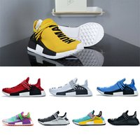 heiße gelbe schuhe groihandel-Hot sale Human Race designer shoes Pharrell Williams Human Race sport shoes Yellow Black White Red Green Grey Blue Sneaker [Without Box]