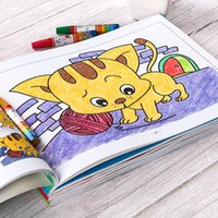 ingrosso libri a colori-Kindergarten PCS Set Enlightenment Graffiti Colouring Book Children Cartoons Graph Color Books Types Coloring Book Wholesale
