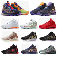 Wholesale mens shoes latex free resale online - Lebron17 Future Women Men Outdoor Basketball Shoes Black White Equality Oreo Bred s Zoom Eggplant Mens Trainers Sneakers