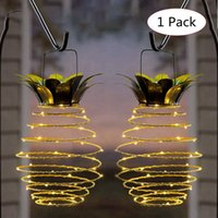Wholesale lighted patio decorations for sale - Group buy 60LEDS Pineapple Solar Lights Patio Outdoor Waterproof Hanging Solar Light Garden Walkway Decoration Camping Lights with Handle HHA1615
