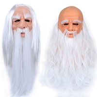 hommes chauds cheveux blancs achat en gros de-GWE2332 SANTA Blanc Claus masque 3D Halloween Christmas Masque Chaud Hair Hair Hair Hair Head Homme Perruque Grand-père Datex Nouveau Cheveux de latex MAS MNPX