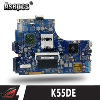 Wholesale Asepcs K55DE Laptop motherboard For Asus K55DE K55DR A55DR K55D K55N K55 Test original mainboard