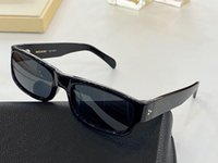 Wholesale mirrors italian resale online - 40087 Men and Women Sunglasses Anti ultraviolet UV Model Square Frames Net Red Same Retro Fashion Italian Imported Plate Full Frame Box