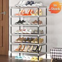 Wholesale shoes cabinets for sale - Group buy Simple Multilayer Shoe Rack Non woven Iron Assembled Shoe Cabinet Hallway Dustproof Shoe Organizer Living Room Shelf Furntiure Y200527