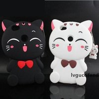 Wholesale lucky cat iphone case for sale – best 3D Lucky Cat Striped pig Case Cover with Pendant Cute Soft Silicone for iPhone XS Max XR X S Plus Samsung S8 S9 Plus