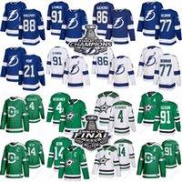Wholesale hockey jerseys lightning for sale - Group buy 2020 Tampa Bay Lightning jerseys Stamkos Kucherov Hedman Vasilevskiy Dallas Stars Seguin Benn Heiskanen hockey jersey