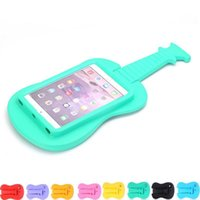 Wholesale cases for guitars resale online - For Ipad Mini Cute Guitar Kids Friendly Eva Foam Safe Shockproof Case For T110 T230 T1 A7 Tablet Stand Holder Cover