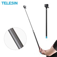 Wholesale carbon fiber selfie monopod for sale - Group buy TELESIN M Long Carbon Fiber Handheld Selfie Stick Monopod for Hero Black Insta360 DJI OSMO Action Camera