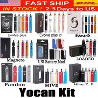 Wholesale yocan evolve plus for sale - Group buy Yocan Loaded Evolve D Evolve Plus XL Hive Magneto Pandon Starter Kit Wax Dry Herb Vape Pen Vaporizer Thick Oil Wax Atomizers