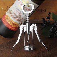 Wholesale aluminum screws for sale - Group buy Bottle Opener Stainless Steel Wine Screw Corkscrew Pressure Wing GrapePortable knife Wine Openers Home Kitchen Bar Tools sea shippingHWC3476