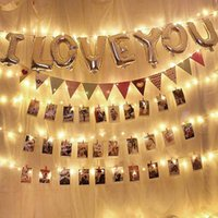 Wholesale gifts for girl teens resale online - 5m m Photo Clips String Lights Usb Powered Hanging Light For Cards Pictures Holder Teen Girl Gifts For Bedroom Decoration Swy bbyubh