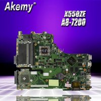 Wholesale good motherboards resale online - Akemy For Asus X550ZE K555Z A555Z X555Z X750 X550 Laptop motherboard A8 CPU Mainboard with graphic card test good