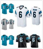Wholesale red white color football jerseys resale online - Carolina Panthers P J Walker Men s Color Rush Blue Jersey White Jersey