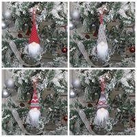 Wholesale elves plush toys resale online - Christmas Decoration Handmade Santa Hanging Pendants Nordic Plush Elf Toy Christmas Tree Ornament Xmas Decorations YYA518