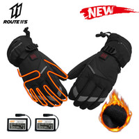 Wholesale heated winter gloves resale online - Waterproof Motorcycle Gloves Winter motorcycle gloves battery heater heat preservation motorcycle racing equestrian gloves heater