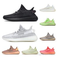 Wholesale women's running shoes resale online - Kanye West True Form Synth Lundmark black static reflective men s designer running shoes Gid Glow Clay Hyperspace Zebra women s sneakers