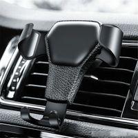 Wholesale car part resale online - Popular auto parts No Magnetic Gravity Holder in Car Air Vent Clip Mount Mobile Phone Stand