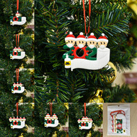 Wholesale christmas trees for sale - Group buy Christmas Ornament DIY Greetings Quarantine Christmas ornaments Party Pandemic Social Distancing Christmas Tree Pendant Accessories