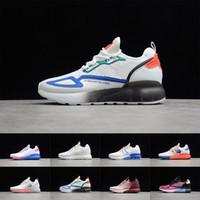 Wholesale unisex sandals resale online - AD Originals ZX K BOOST Popcorn Slipper Sandal Designer Women Sneakers Platform Shoes Men Basketball Outdoor JOO8272
