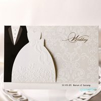 Wholesale free printable wedding envelopes for sale - Group buy Bride and Groom Style Wedding Invitations Cards Printable Invitation With Envelope pieces
