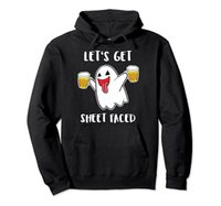 blau boos groihandel-Let's Get Sheet Faced Boos Beer Drinking Boo Ghost Halloween Pullover Hoodie Unisex Size S-5XL with Color Black Grey Navy Royal Blue Dark He
