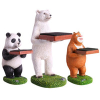 Wholesale watch animals resale online - New Animals Shape Watch Stands Panada Special Watch And Jewelry Decoration Display Stand Fashion Gift Boxes Case