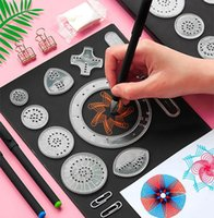 Wholesale art stencils for painting resale online - Magic Color Rainbow Scratch Art Paper Card Set With Graffiti Stencil For Drawing Stick Diy Art Painting Toy Kids Gift Gyh sqciJu pingtoy