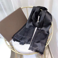 Wholesale options gold for sale - Group buy silk scarf with gold wire fashion Plain Unisex Man Women Season Lamé Shawl Scarf Letter Scarves x90cm Color With box option