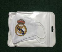 Wholesale real madrid team for sale - Group buy 5pcs Mask Soccer Team Football Cotton Material Mask Be Fans Masks Put Reusable Can Real Disposable In The Middle Washable Madrid Tbojb