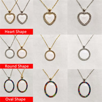 Fashion Style! Sublimation Necklace Heat Transfer Crystal Pendant Custom Blank Metal Necklace Valentine Gift Jewelry Souvenir Present A12