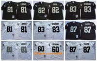 Wholesale 83 jersey resale online - Vintage Oakland Raiders NFL Football Jerseys Ted Hendricks Men Tim Brown AI Davis Dave Casper Otis Sistrunk White