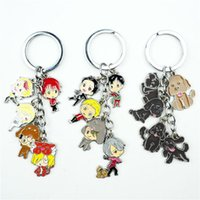 Wholesale anime resin figure for sale - Group buy Anime YURI on Victor Keychain Keyring In Set Alloy Metal Pendant Cartoon Figures Key Ring Cosplay Accessories Gift